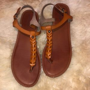 American Eagle leather sandals never worn size 10
